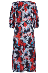 Drape Dress in Swirl Pattern