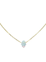 Load image into Gallery viewer, Opal Hamsa Gold Necklace