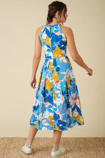 Load image into Gallery viewer, Alyssa Dress in Blue Floral