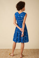 Load image into Gallery viewer, Scarlett Dress in Blue Divers