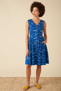 Scarlett Dress in Blue Divers