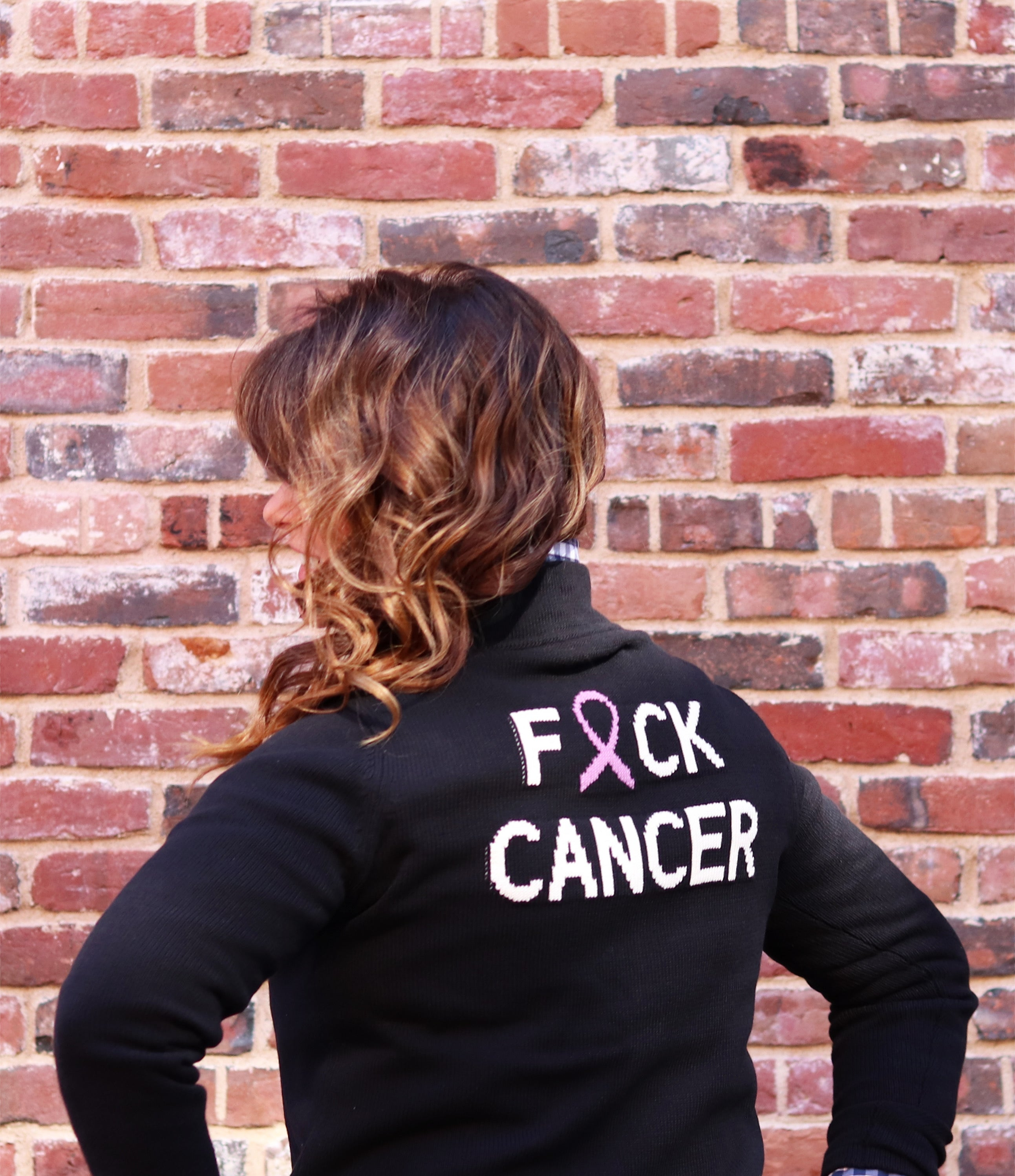PRE-SALE! Fuck Cancer Zip Up- 25% of each sale goes to Runway For Recovery