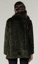 Load image into Gallery viewer, Faux Fur Coat in Forest Green