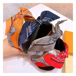 Load image into Gallery viewer, Zebra Bandana Print Headband in Orange