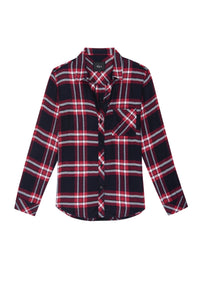 Hunter Plaid Shirt in Twilight Cherry