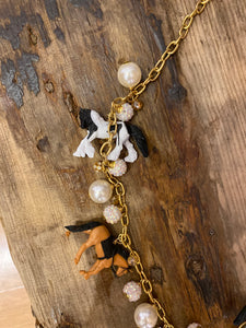 Long Trinket Horse Necklace