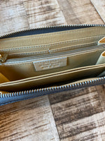 Load image into Gallery viewer, Italian Leather Metallic Wallet in Gunmetal