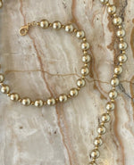 Load image into Gallery viewer, Metallic Beaded Mask Chain in Matte Gold