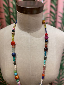 Long Disco Necklace in Multi Combo #2