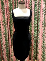Load image into Gallery viewer, Mesh Detail Sheath Dress in Black