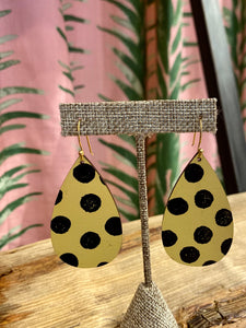 Tear Drop Earring in Cheetah Spot