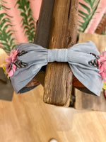 Load image into Gallery viewer, Pastel Flower Headband in Grey