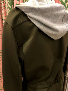 Hooded Shirt Jacket in Army