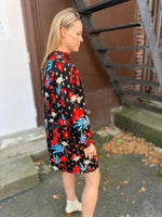 Load image into Gallery viewer, Glib Dress in Black Floral Print