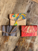 Load image into Gallery viewer, Marbled Leather Card Holder in Multi