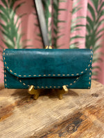 Load image into Gallery viewer, Leather Wallet in Green