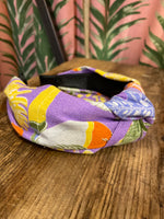 Load image into Gallery viewer, Fabric Headband Lavender Toucan