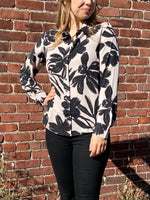 Load image into Gallery viewer, The Signature Shirt in Nude/Black Floral
