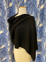 Load image into Gallery viewer, 100% Cashmere Dress Topper/ Poncho in Black