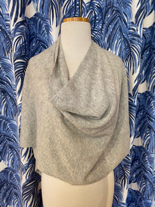 Cashmere Dress Topper/Poncho in Ash