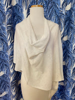 Load image into Gallery viewer, Cashmere Dress Topper/Poncho in Sea Salt