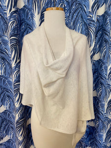 Cashmere Dress Topper/Poncho in Sea Salt