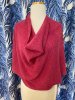 Load image into Gallery viewer, 100% Cashmere Dress Topper/Poncho in Wild Rose