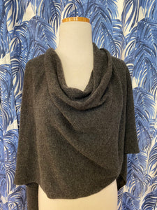 Cashmere Dress Topper/Poncho in Charcoal