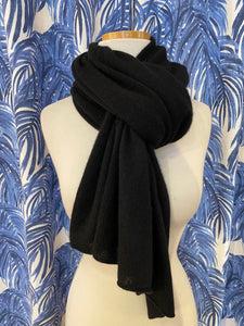 100% Cashmere Dress Topper/ Poncho in Black
