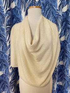Cashmere Dress Topper/Poncho in Snow