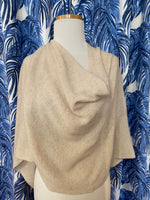 Load image into Gallery viewer, 100% Cashmere Dress Topper/Poncho in Dune