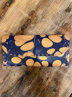 Load image into Gallery viewer, Marbled Leather Wallet in Navy Combo