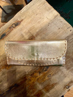 Load image into Gallery viewer, Leather Wallet in Metallic Gold