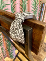 Load image into Gallery viewer, Fabric Headband in Grey Trellis