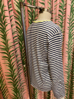 Load image into Gallery viewer, Breton Stripe Top in Navy