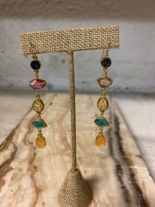Drop Gem Earrings in Multi