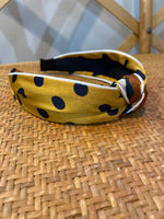 Load image into Gallery viewer, Mixed Pattern Headband in Mustard/Navy