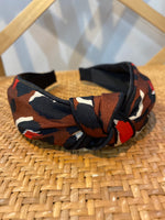 Load image into Gallery viewer, Animal Print Headband in Brown Combo