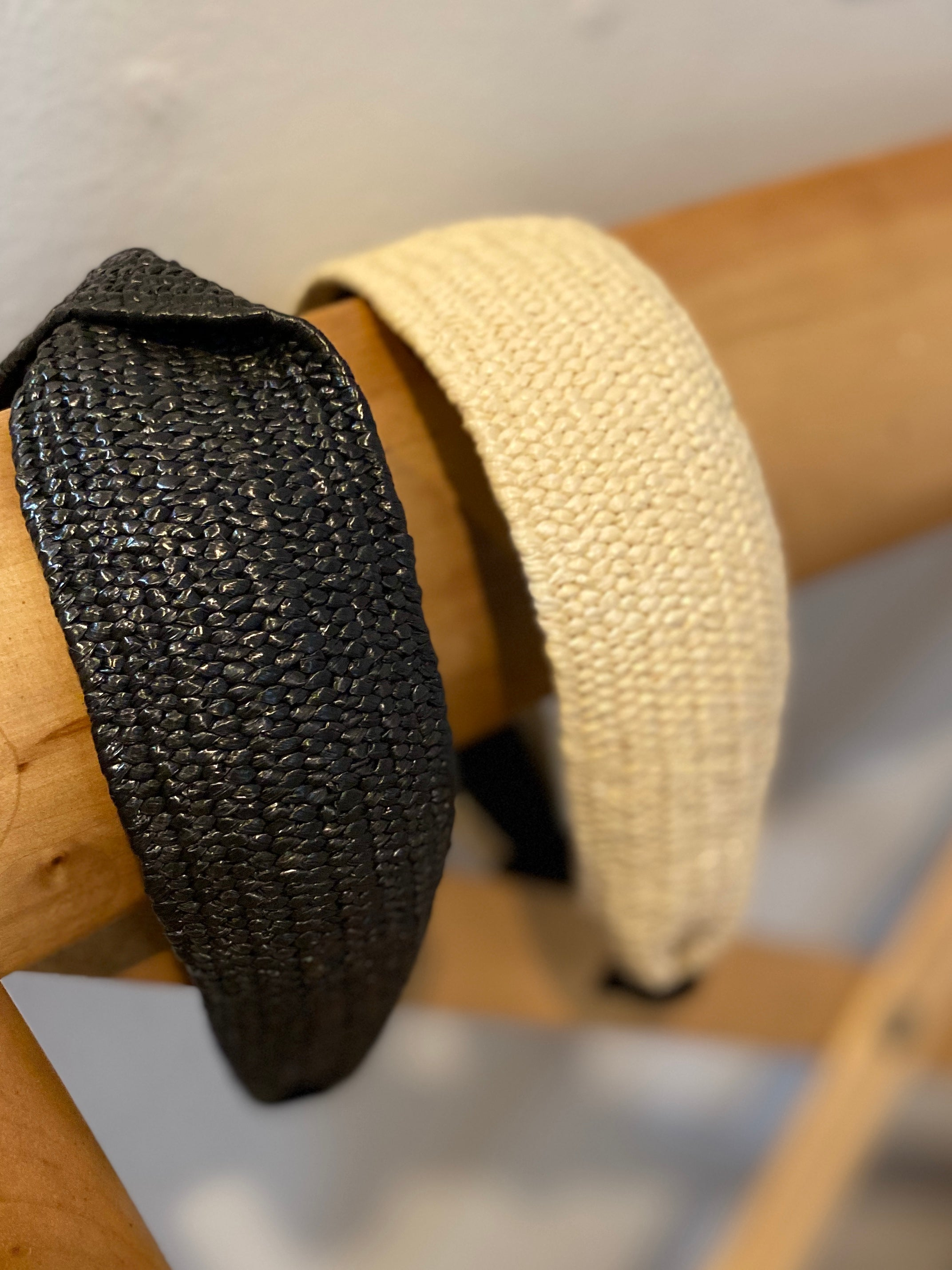 Rattan Headband in Black