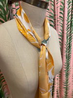 Load image into Gallery viewer, Skinny Scarf in Yellow Floral