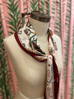 Load image into Gallery viewer, Circus Print Scarf in Beige Combo