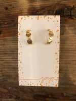 Load image into Gallery viewer, Textured Mini Hoops in Gold