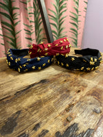 Load image into Gallery viewer, Star Headband in Navy