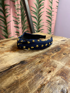 Star Headband in Navy