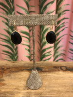 Load image into Gallery viewer, Single Gemstone Drop Earring in Black Onyx