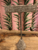 Load image into Gallery viewer, Delicate 14K Gold Fill Twisted Hoop Earrings with Pyrite