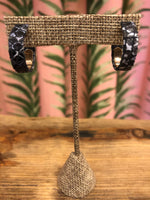 Load image into Gallery viewer, Mini Python Hoop in Metallic Black
