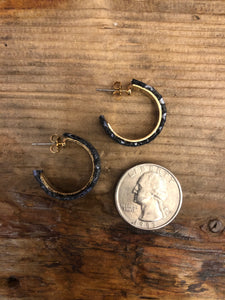 Mini Python Hoop in Metallic Black