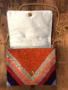 Striped Beaded Bag in Multi