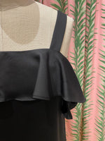 Load image into Gallery viewer, Ruffle Shoulder Dress in Black